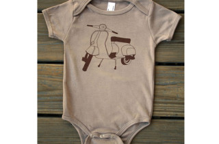 Organic Cotton Scooter Bodysuit
