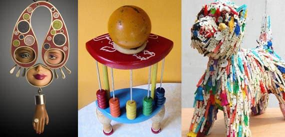 Kids Toys Turned Art