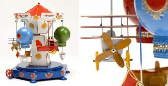 Traditional Tin Flying Carousel Expensive Toy