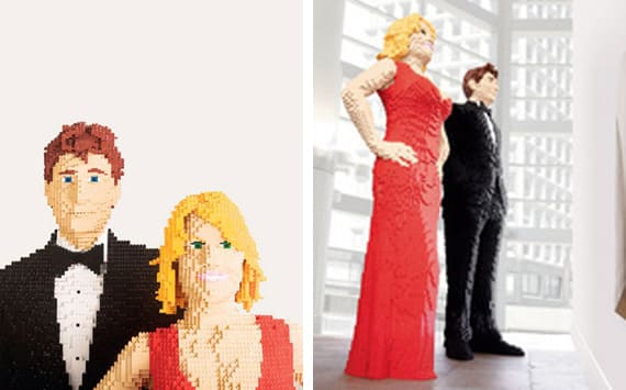 Life size LEGO statues