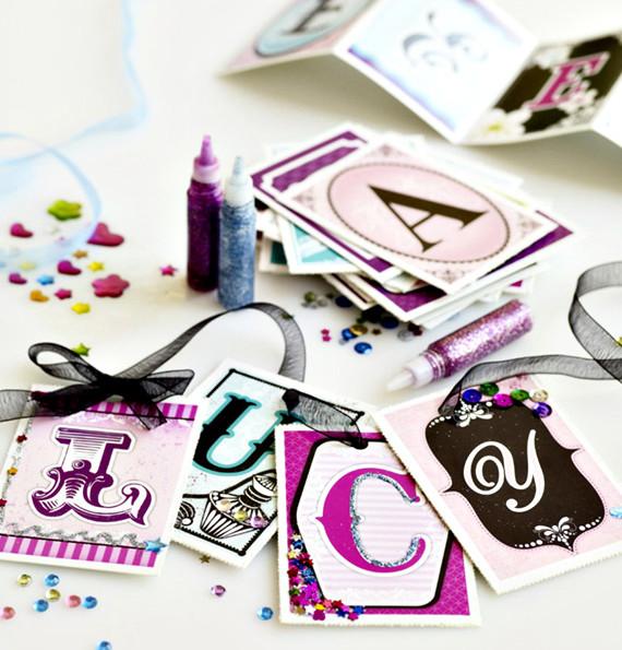 Bling Letter Cards