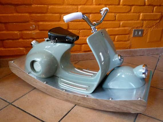 italian scooter rocking horse