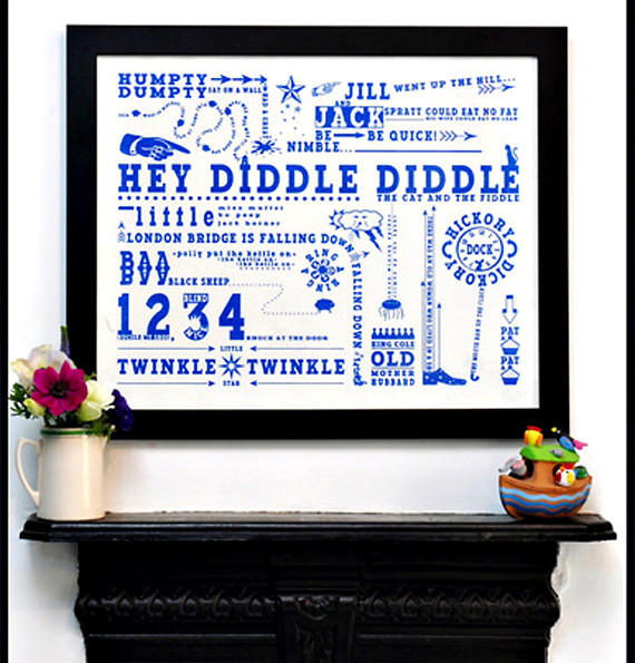 Nursery Rhyme Art Print