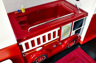 Fire Truck Bath