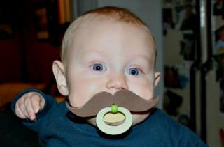 Mustache Pacifiers