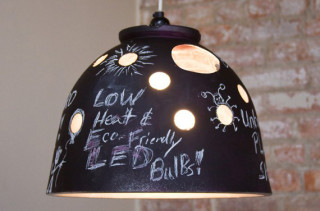 Garden Pot Turned Chalkboard Lamp