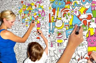 DIY Color In Wallpaper
