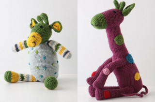 Hand Knit Stuffed Animals