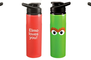 Oscar The Grouch & Elmo Stainless Steel Water Bottles