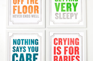 Letterpress Subliminal Message Prints