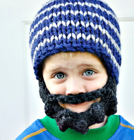 Bearded Knit Hat