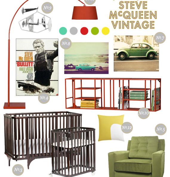 Steve McQueen Inspired Nursery