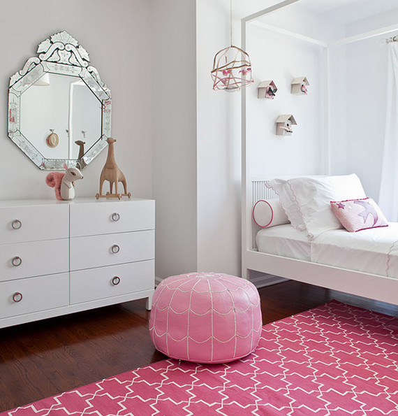 Modern Pink Girl's Bedroom