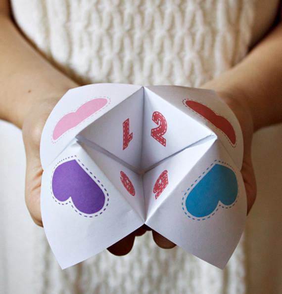 DIY Valentine Fortune Teller