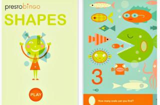 Presto Bingo SHAPES App