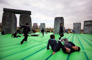 Inflatable Bouncy Stonehenge