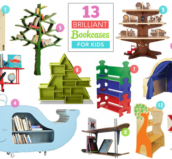 13 Brilliant Bookcases For Kids