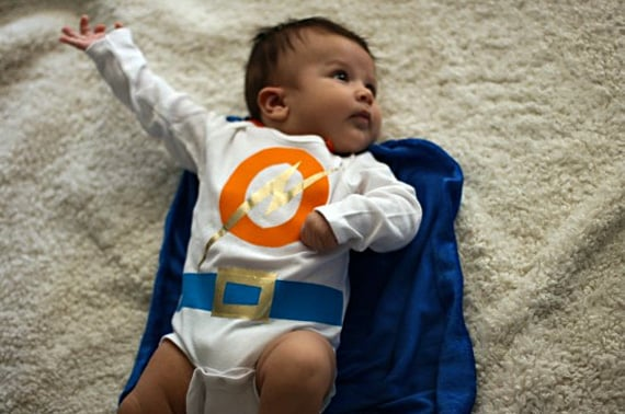 No-Stitch Baby Superhero Outfit