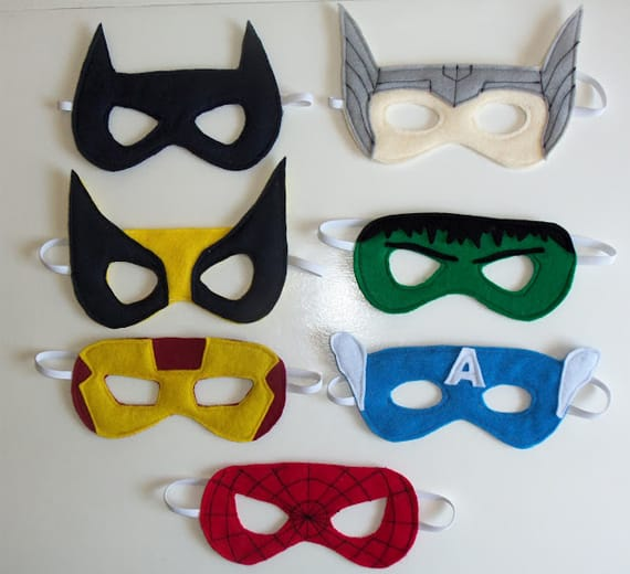superhero mask template for kids - make your own superhero costume ideas kid crave