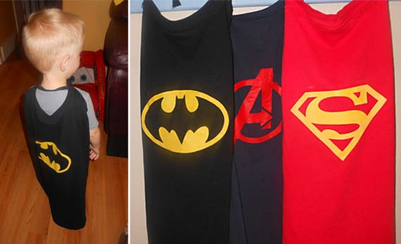 Superhero T-Shirt Turned Cape