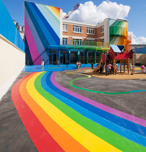 The Most Colorful School Ever