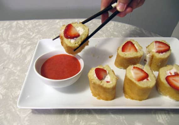 Strawberry Shortcake Sushi