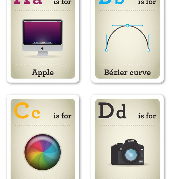 Hipster Design Baby Flash Cards