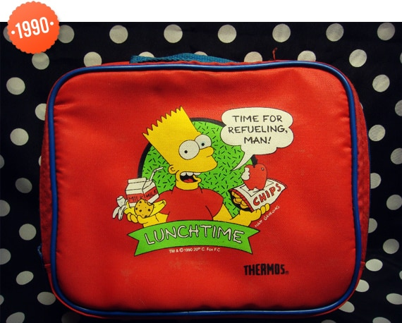 1990 Simpsons Lunch Box