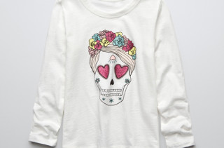 Girls Mexican Skull Shirt