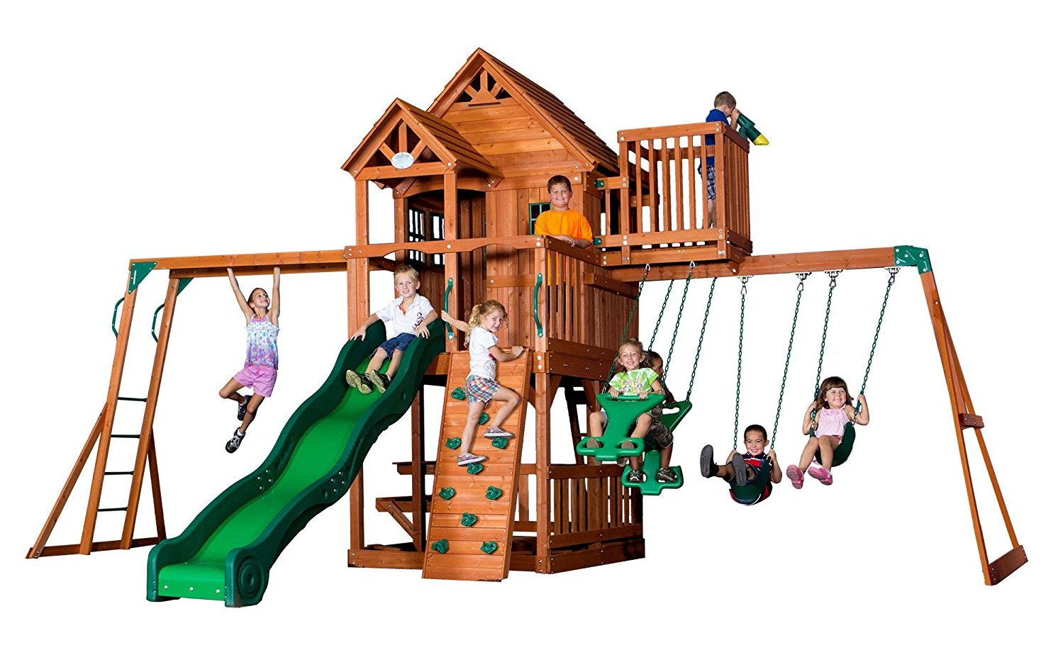 Backyard Discovery Skyfort Wood Swing Set