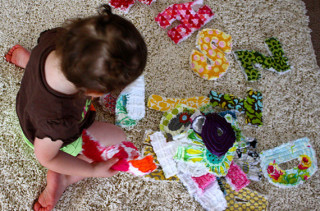 DIY Rag Quilt Letters & Numbers