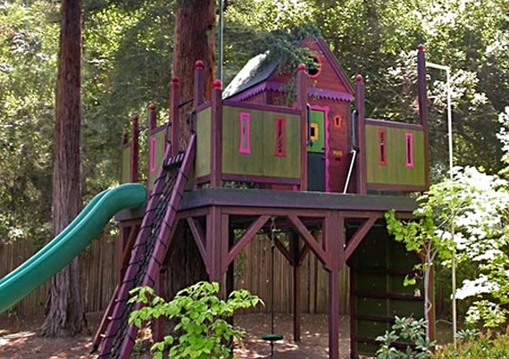 custom tree house for kids