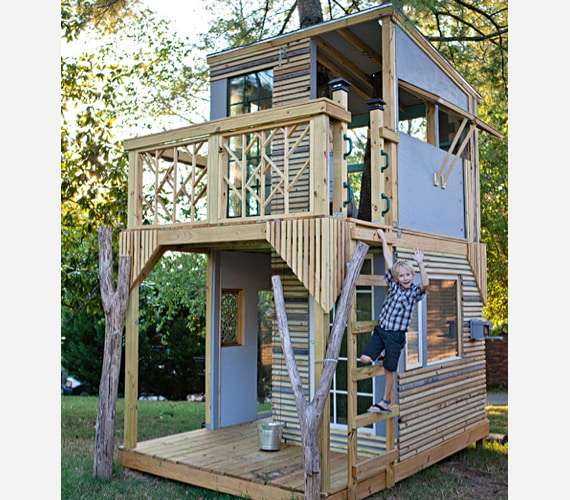 Attractive kids tree house