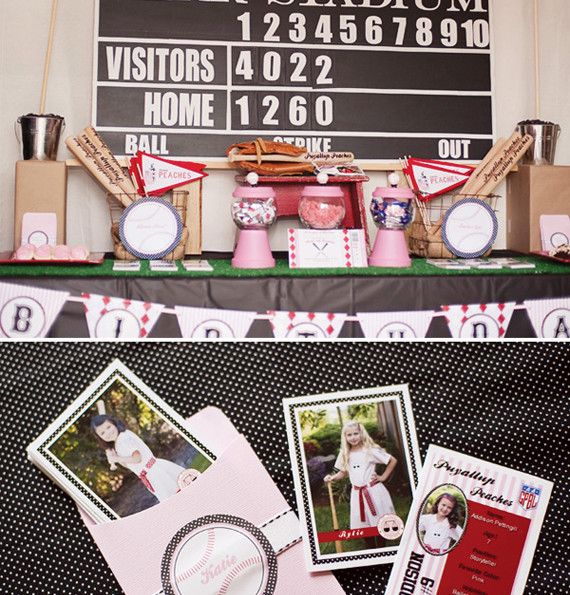 Vintage Girls Baseball Party