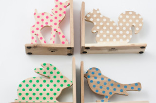 Animal Polka Dot Bookends