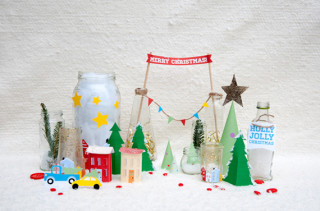 Printable Tabletop Holiday Village