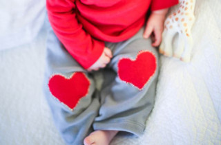 DIY Heart Knee Patch Pants