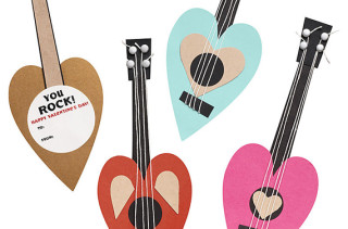 Guitar Valentine Card Kit