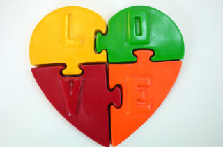Love Puzzle Crayons