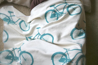 Personalized Cruiser Bike Toddler Blanket