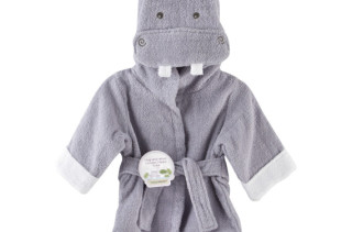 Hooded Hippo Bath Robe