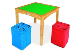 LEGO Activity Table with Brick Ottomans
