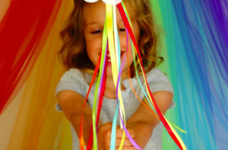 DIY No Sew Rainbow Wand