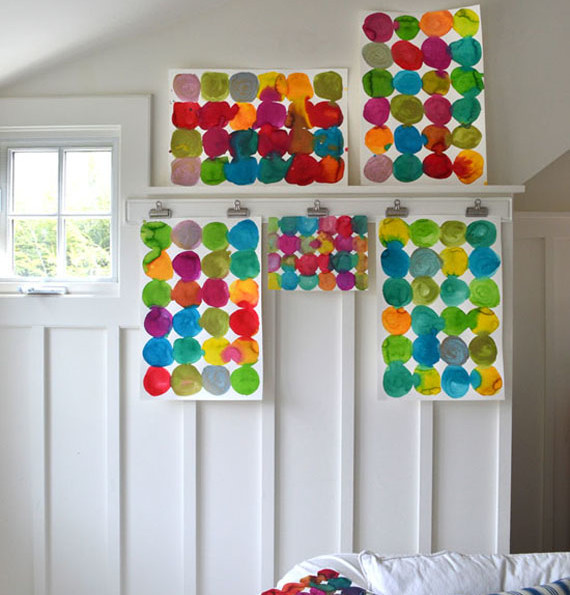 DIY Circle Paintings