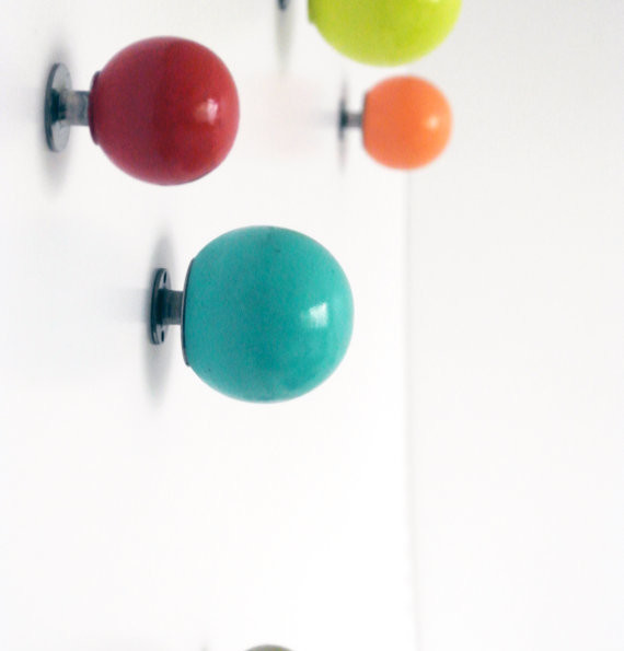Colorful Wall Knobs