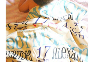Personalized Birth Story Blanket