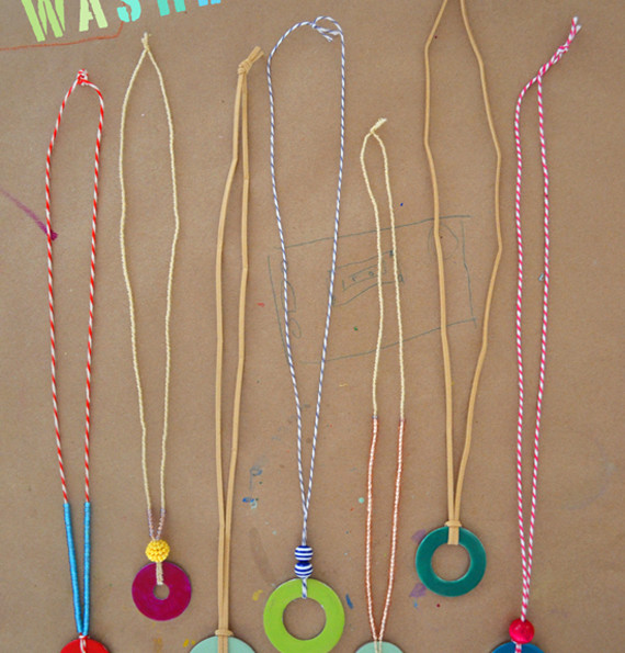 DIY Washer Necklaces