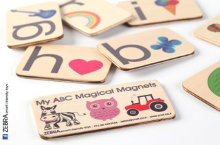 Alphabet Wooden Magnet Flashcards