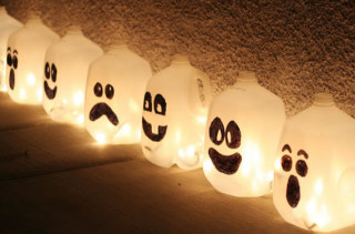 Glowing Ghost Jugs