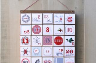 Vintage Modern Advent Calendar
